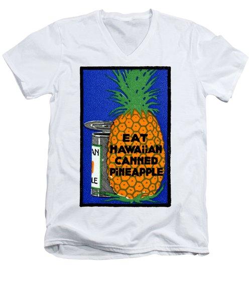 1915 Eat Hawaiian Pineapple Poster Men's V-Neck T-Shirt