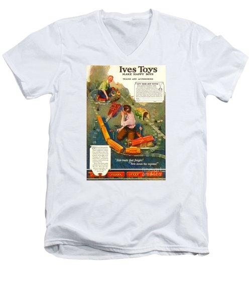 1920's Ives Toys Advertisement Men's V-Neck T-Shirt