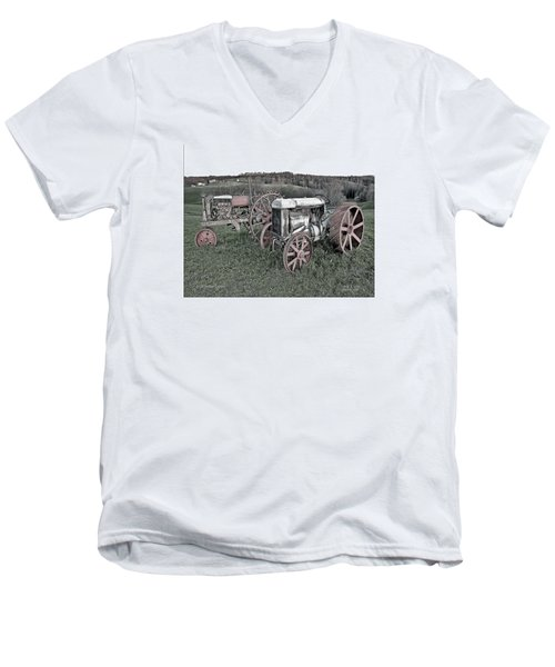 Men's V-Neck T-Shirt featuring the photograph 1923 Fordson Tractors by Mark Allen