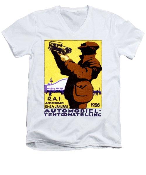 1926 Dutch Car Show Men's V-Neck T-Shirt