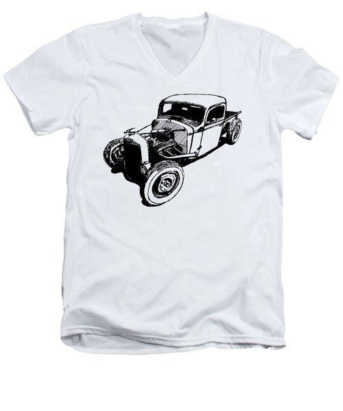 1937 Chevy Bobber Truck Hot Rod Tee Men's V-Neck T-Shirt