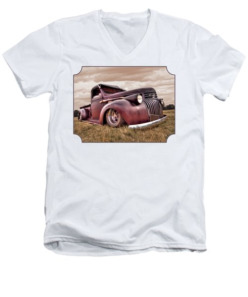 1941 Rusty Chevrolet Men's V-Neck T-Shirt by Gill Billington