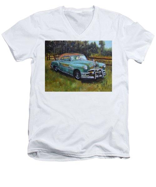 1952 Pontiac Chieftain  Men's V-Neck T-Shirt by Sandra Nardone