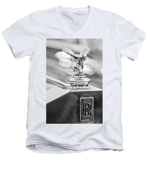 1952 Rolls-royce Silver Wraith Hood Ornament 2 Men's V-Neck T-Shirt