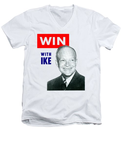 1952 Win With Ike Men's V-Neck T-Shirt
