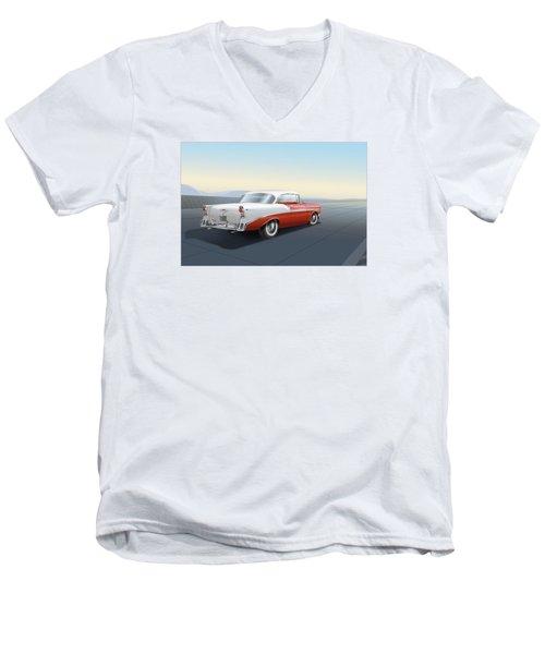 1956 Chevrolet Bel Air Men's V-Neck T-Shirt