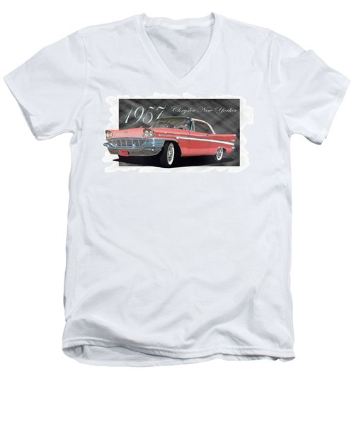 1957 Chrysler New Yorker Men's V-Neck T-Shirt