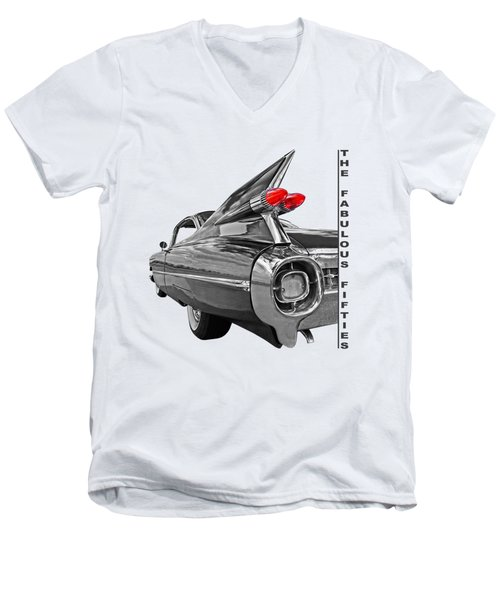 1959 Cadillac Tail Fins Men's V-Neck T-Shirt
