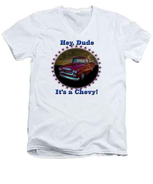 1959 Chevy Pickup Men's V-Neck T-Shirt