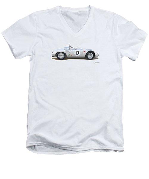 1959 Porsche Type 718 Rsk Spyder Men's V-Neck T-Shirt by Alain Jamar
