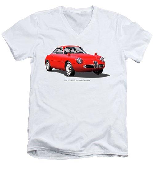 1960 Alfa Romeo Zagato Giulietta Sprint Men's V-Neck T-Shirt by Alain Jamar