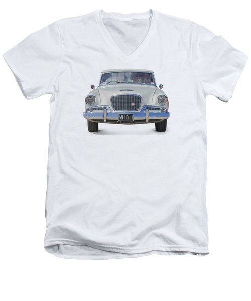 1961 Studebaker Hawk On A Transparent Background Men's V-Neck T-Shirt by Terri Waters