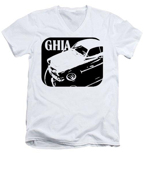 1962 Karmann Ghia Pop Art Tee Men's V-Neck T-Shirt