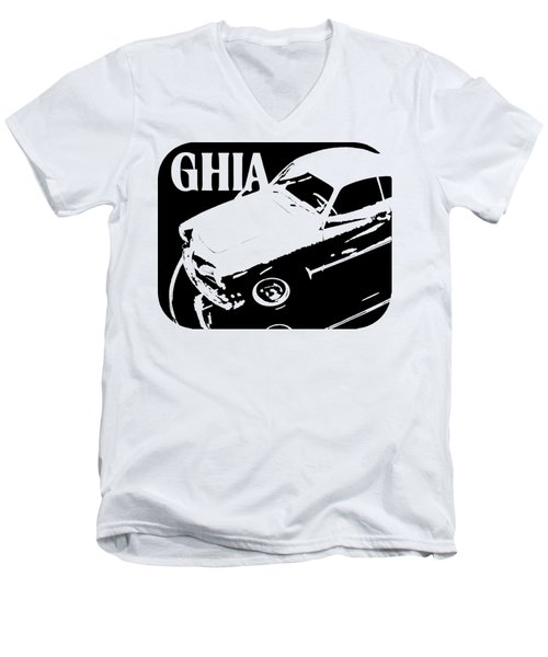 1962 Karmann Ghia Pop Art Tee Men's V-Neck T-Shirt