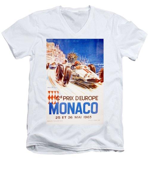 1963 F1 Monaco Grand Prix  Men's V-Neck T-Shirt