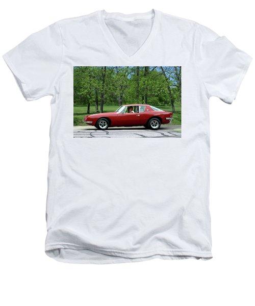 1963 Studebaker Avanti Coupe Men's V-Neck T-Shirt by Tim McCullough