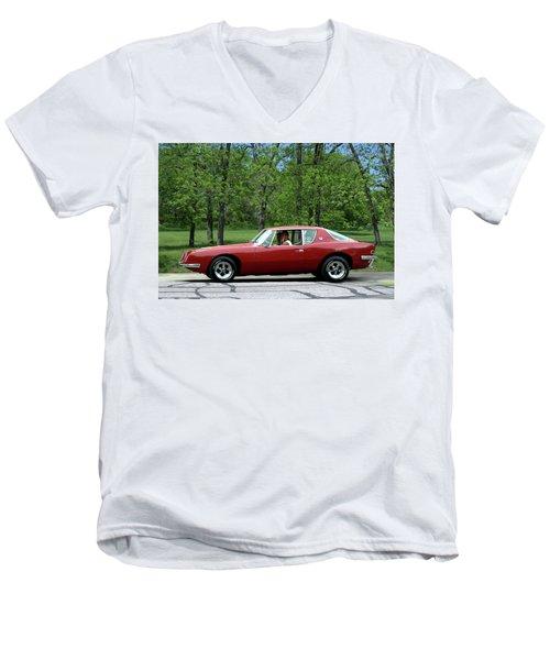 1963 Studebaker Avanti Coupe Men's V-Neck T-Shirt