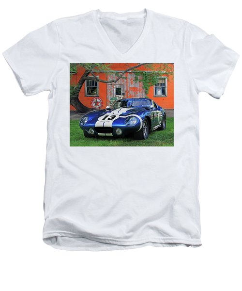 Men's V-Neck T-Shirt featuring the photograph 1964 Cobra Daytona Coupe by Christopher McKenzie