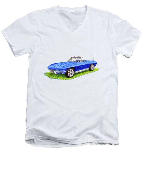 1964 Corvette Stingray Men's V-Neck T-Shirt