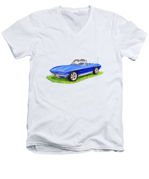 Corvette Stingray Men's V-Neck T-Shirt