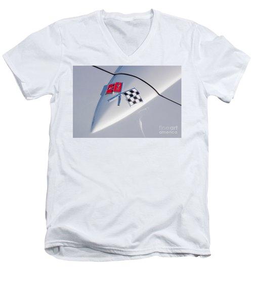 1966 Corvette Hood Ornament  Men's V-Neck T-Shirt