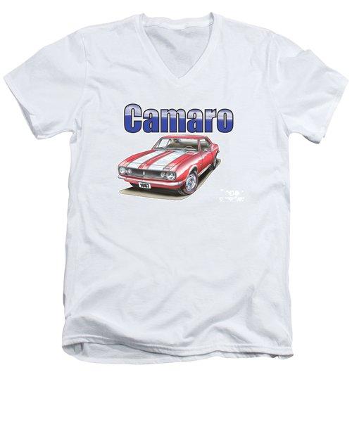 1967 Camaro Men's V-Neck T-Shirt by Thomas J Herring