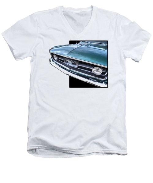 1967 Mustang Grille Men's V-Neck T-Shirt by Gill Billington