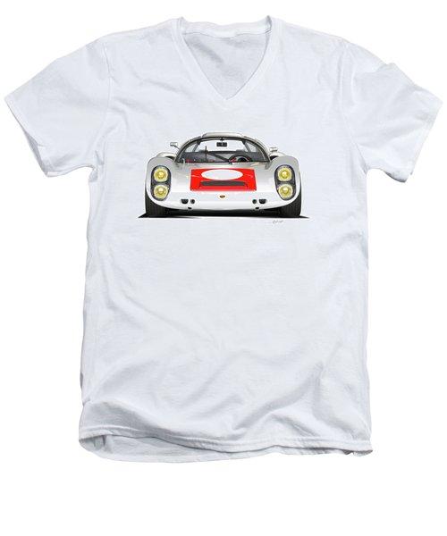 1967 Porsche 910 Illustration Men's V-Neck T-Shirt