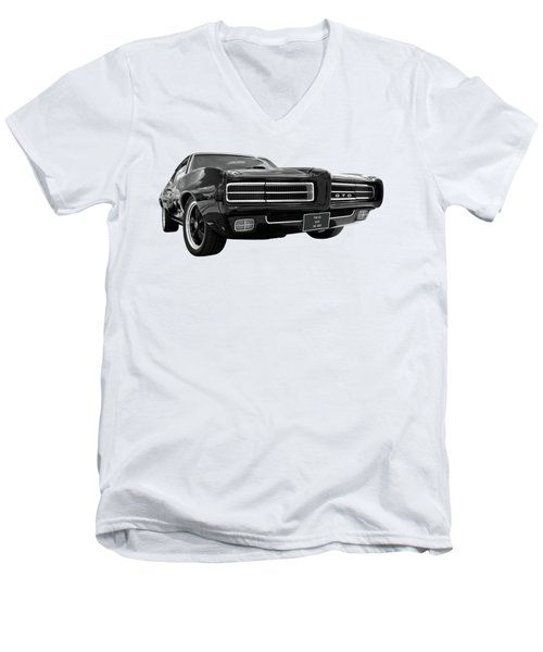 Men's V-Neck T-Shirt featuring the photograph 1969 Pontiac Gto The Goat by Gill Billington
