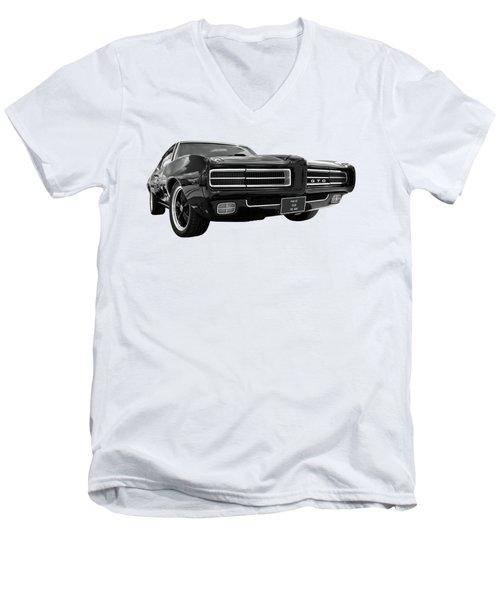 1969 Pontiac Gto The Goat Men's V-Neck T-Shirt
