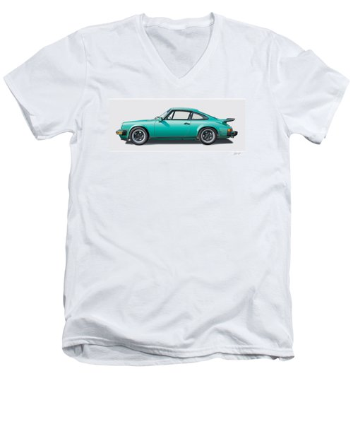 1976 Porsche Euro Carrera 2.7 Illustration Men's V-Neck T-Shirt
