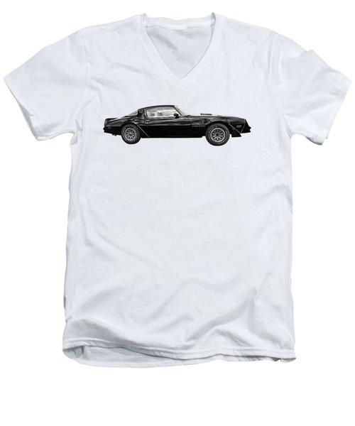 1978 Trans Am In Black And White Men's V-Neck T-Shirt