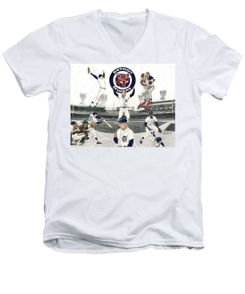 1984 Detroit Tigers Men's V-Neck T-Shirt