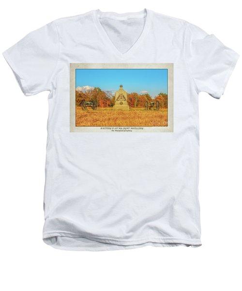 1st New York Battery D Gettysburg Poster Men's V-Neck T-Shirt