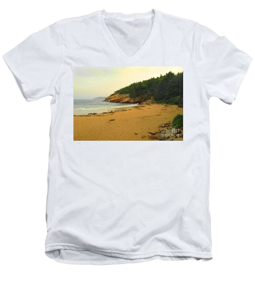 Acadia  Men's V-Neck T-Shirt by Raymond Earley