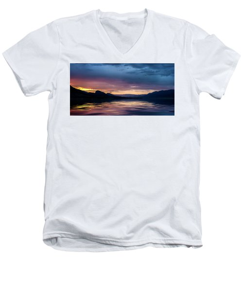 Men's V-Neck T-Shirt featuring the photograph Across The Clouds I See My Shadow Fly by John Poon
