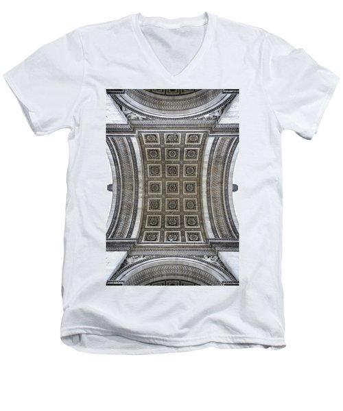 Arc De Triomphe Detail Men's V-Neck T-Shirt