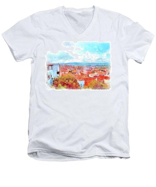 Arzachena View Men's V-Neck T-Shirt