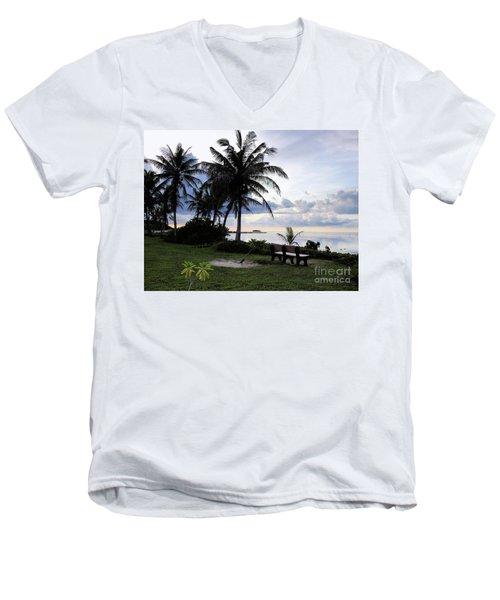 Asan Beach Guam Men's V-Neck T-Shirt