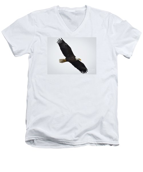 Men's V-Neck T-Shirt featuring the photograph Bald Eagle by Ricky L Jones