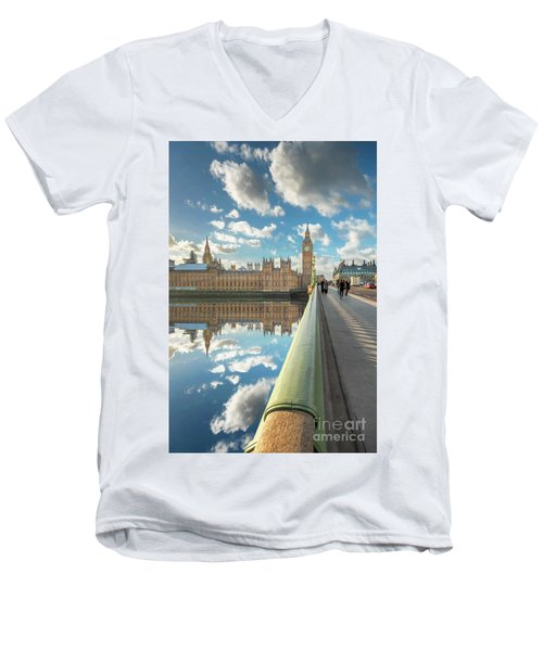 Men's V-Neck T-Shirt featuring the photograph Big Ben London by Adrian Evans