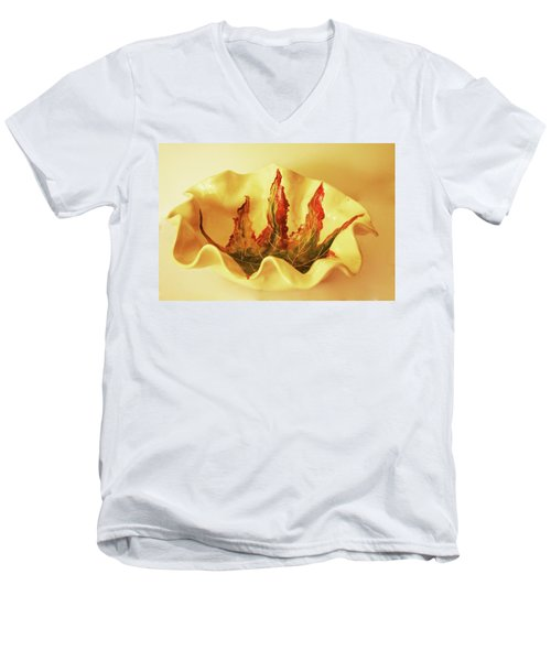 Big Bowel1 Men's V-Neck T-Shirt by Itzhak Richter