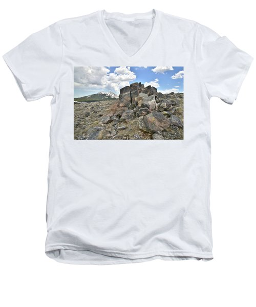 Big Horn Pass In Wyoming Men's V-Neck T-Shirt