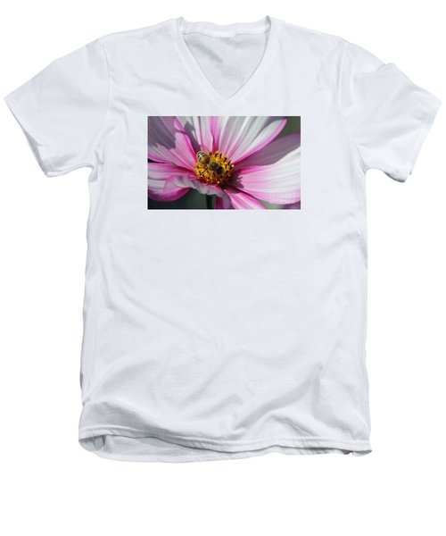 Busy Bee Men's V-Neck T-Shirt by Yumi Johnson