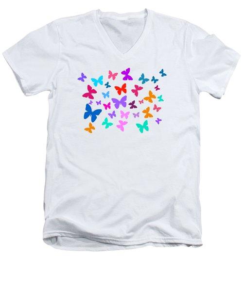 Butterflies Men's V-Neck T-Shirt