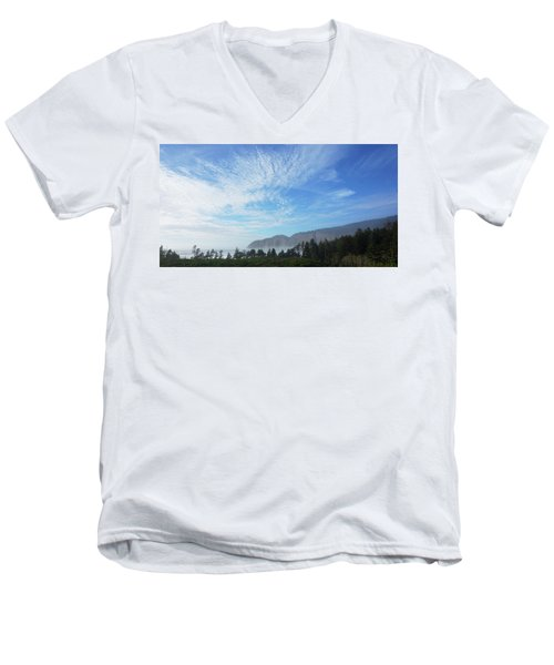 Cape Lookout Men's V-Neck T-Shirt by Angi Parks