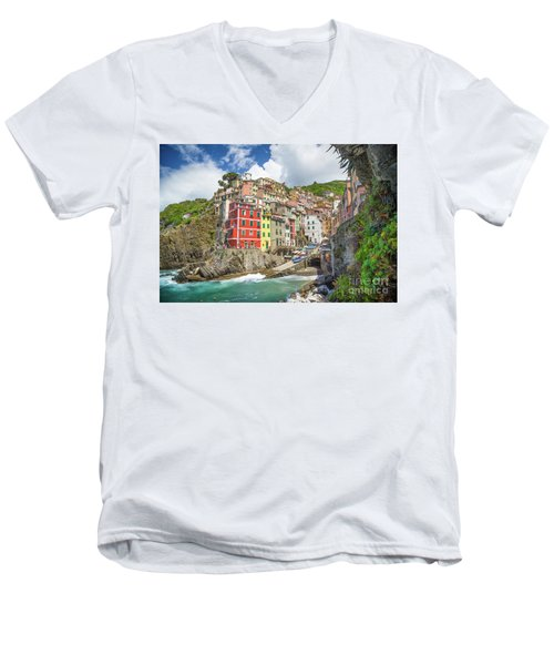 Colors Of Cinque Terre Men's V-Neck T-Shirt by JR Photography