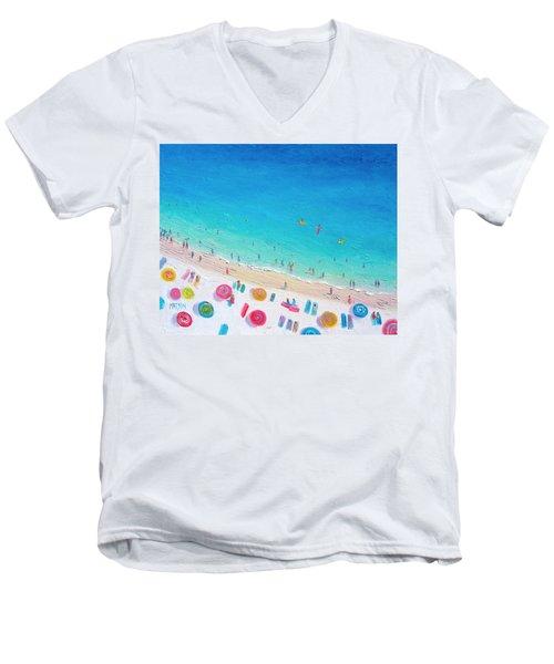 Colors Of The Beach Men's V-Neck T-Shirt by Jan Matson