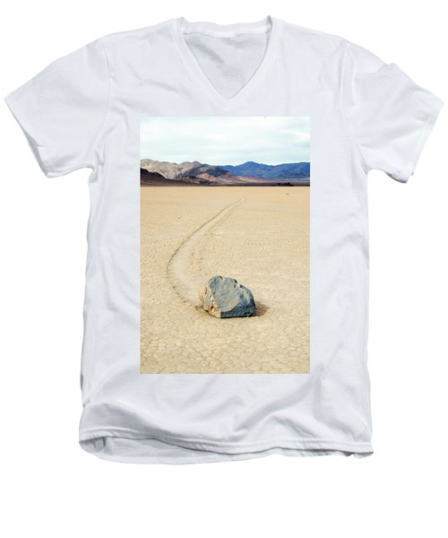 Death Valley Racetrack Men's V-Neck T-Shirt