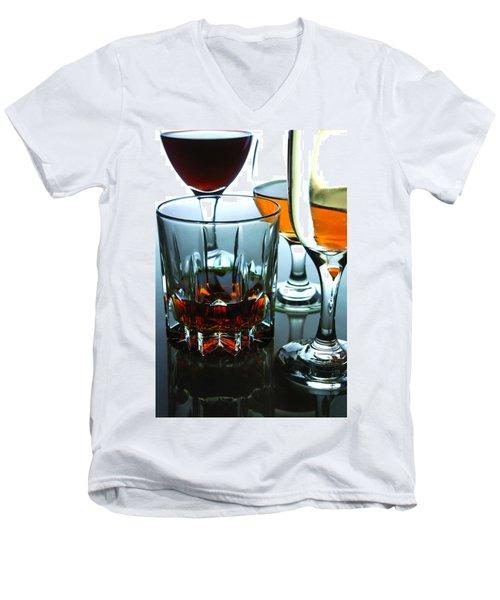 Drinks Men's V-Neck T-Shirt by Jun Pinzon